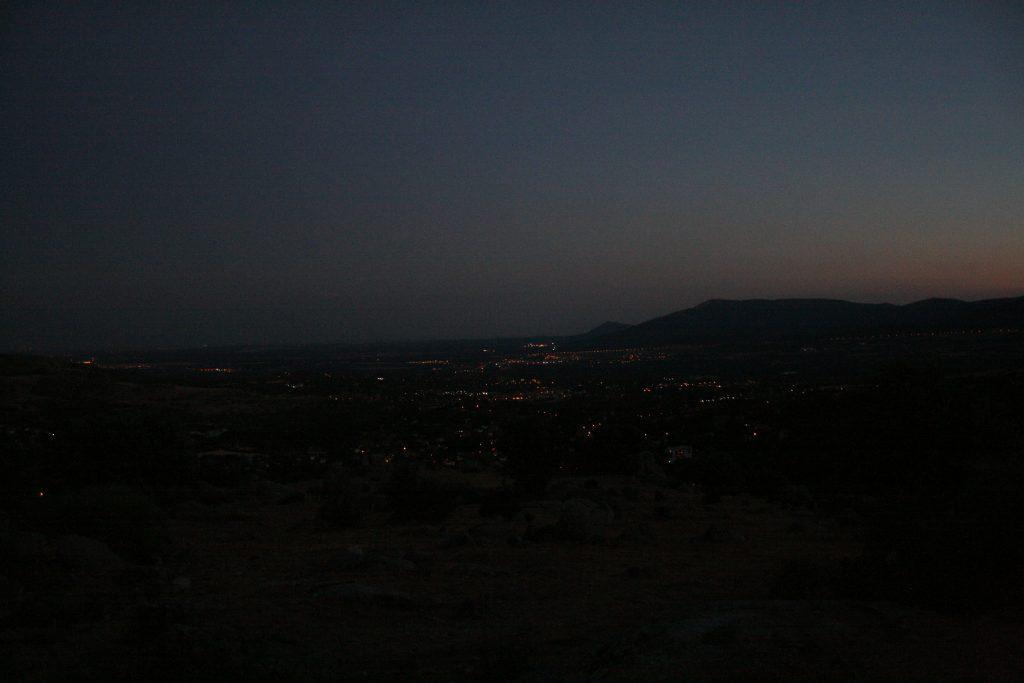 Crepúsculo al anochecer desde la sierra de Madrid